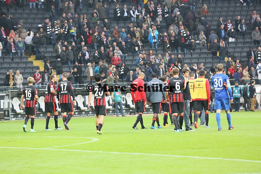 Enttaeuschung bei Eintracht Frankfurt - Eintracht Frankfurt vs. VfB Stuttgart, Commerzbank Arena