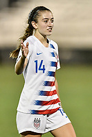 Lakewood Ranch, FL - Wednesday, October 10, 2018:   Payton Linnehan during a U-17 USWNT match against Colombia.  The U-17 USWNT defeated Colombia 4-1.