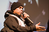 "Immortal Technique revolutionary New York Afro-Peruvian rapper and producer ""In Conversation"" Birmingham Library Theatre 27 October 2012"