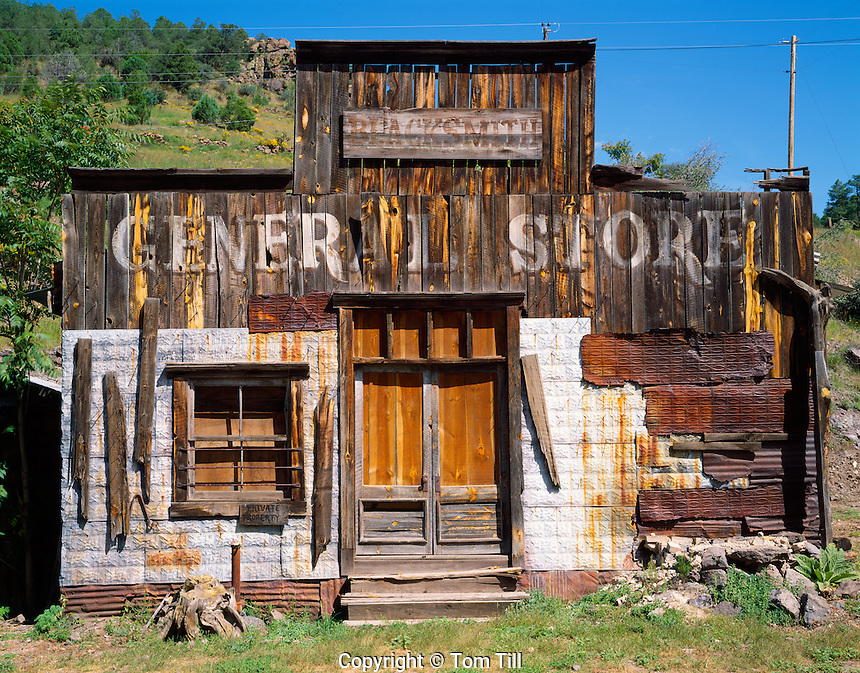 General store at Mogollon, Ghost town of Mogollon, New Mexico