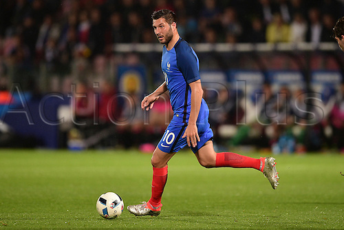 04.06.2016. Stade Saint Symphorien, Metz, France. International football freindly,France versus Scotland.  Andre Pierre Gignac (France)