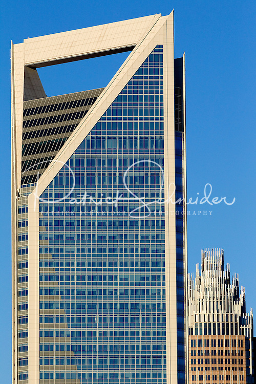 The Duke Energy Tower and Bank of America tower in downtown Charlotte, NC.