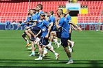 Iceland football team players in action during the training session one day before Argentina vs Iceland football match of the RUSSIA 2018 FIFA WORLD CUP  on 15/06/2018 in Moscow, Russia.