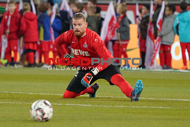 08.02.2019, RheinEnergieStadion, Koeln, GER, 2. FBL, 1.FC Koeln vs. FC St. Pauli,<br />  <br /> DFL regulations prohibit any use of photographs as image sequences and/or quasi-video<br /> <br /> im Bild / picture shows: <br /> Timo Horn Torwart (FC Koeln #1), beim Aufwaermen, Einzelaktion,  <br /> <br /> Foto © nordphoto / Meuter