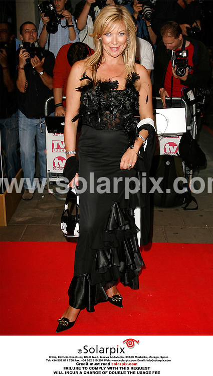 "ALL ROUND PICTURES FROM SOLARPIX.COM..Claire King arrives for the 2006 TV Quick and TV Choice awards at the Dorchester Hotel, London...DATE: 04/09/2006-JOB REF: 2775-PHZ..""MUST CREDIT SOLARPIX.COM OR DOUBLE FEE WILL BE CHARGED"""