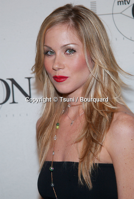 Christina Applegate arriving at the mtvICON: Aerosmith held  at Sony Studios in Los Angeles, Ca., April 14, 2002.