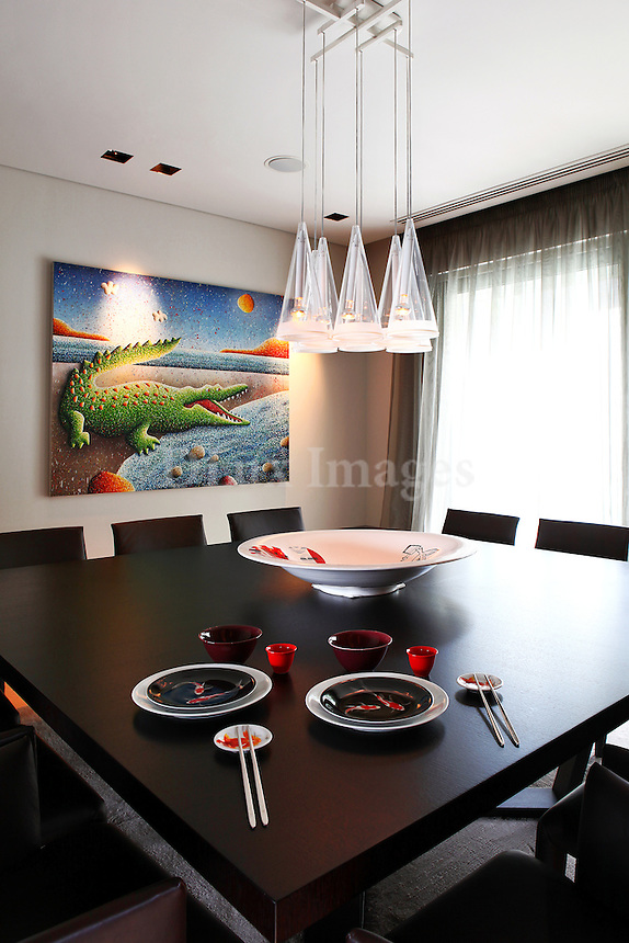 luxury contemporary dining room