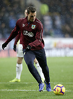 Burnley's Chris Wood during the pre-match warm-up <br /> <br /> Photographer Rich Linley/CameraSport<br /> <br /> The Premier League - Burnley v Brighton and Hove Albion - Saturday 8th December 2018 - Turf Moor - Burnley<br /> <br /> World Copyright © 2018 CameraSport. All rights reserved. 43 Linden Ave. Countesthorpe. Leicester. England. LE8 5PG - Tel: +44 (0) 116 277 4147 - admin@camerasport.com - www.camerasport.com