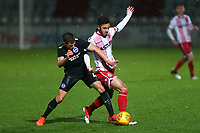 Andronicos Georgiou of Stevenage and Jayson Molumby of Brighton during Stevenage vs Brighton & Hove Albion Under-21, Checkatrade Trophy Football at the Lamex Stadium on 7th November 2017