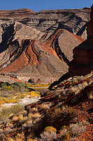 Rock formations along the San Juan River, Mexican Hat, San Juan County, Utah