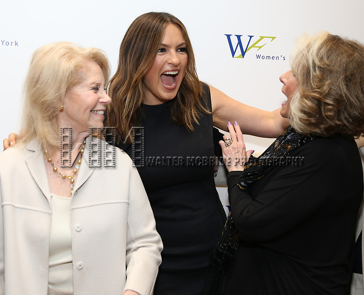 Daryl Roth, Mariska Hargitay and Shelia Nevins attends The 7th Annual Elly Awards at The Plaza Hotel on June 19, 2017 in New York City.