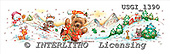 GIORDANO, CHRISTMAS ANIMALS, WEIHNACHTEN TIERE, NAVIDAD ANIMALES, Teddies, paintings+++++,USGI1390,#XA#
