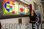 Stained Glass Artist Mary J. Leen from Caherleaheen Tralee at the  unveiling of the  donal walsh 'petition for living' memorial window by Bishop of Kerry Ray Browne at CBS 'The Green' on Tuesday