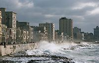 Cuba/La Havane: Le Malecon et le front de mer