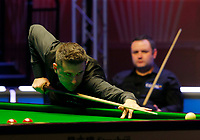 27th February 2020; Waterfront, Southport, Merseyside, England; World Snooker Championship, Coral Players Championship; Mark Selby (ENG) at the table during his match against Stephen Maguire (SCO)