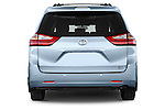 Straight rear view of 2017 Toyota Sienna XLE 5 Door Minivan Rear View  stock images