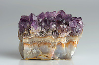 Amethyst crystals from a fragment of a geode