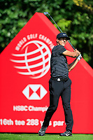 Thorbjorn Olesen (DEN) on the 16th tee during the 3rd round at the WGC HSBC Champions 2018, Sheshan Golf CLub, Shanghai, China. 27/10/2018.<br /> Picture Fran Caffrey / Golffile.ie<br /> <br /> All photo usage must carry mandatory copyright credit (&copy; Golffile | Fran Caffrey)