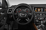 Car pictures of steering wheel view of a 2017 Audi Q5 Premium 5 Door SUV Steering Wheel