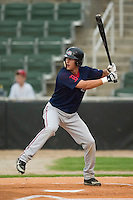 Greenville left fielder Reid Engel (2) at bat versus Kannapolis at Fieldcrest Canon Stadium in Kannapolis, NC, Monday, June 11, 2007.  The Drive no-hit the Intimidators in a game shortened to 6 innings by rain.