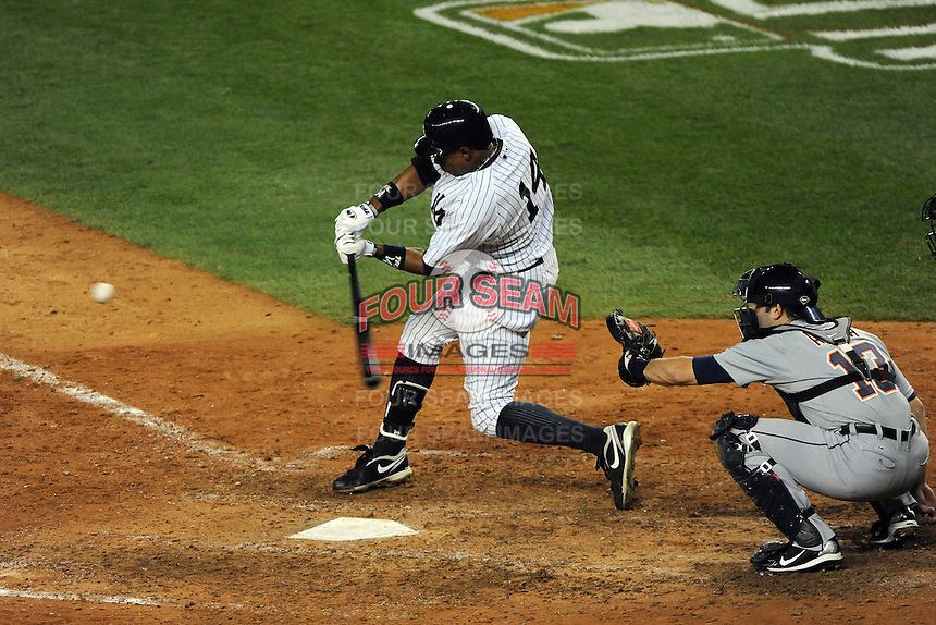 New York Yankees outfielder Curtis Granderson #14 during ALDS game #5 against the Detroit Tigers at Yankee Stadium on October 06, 2011 in Bronx, NY.  Detroit defeated New York 3-2 to take the series 3 games to 2 games.  Tomasso DeRosa/Four Seam Images