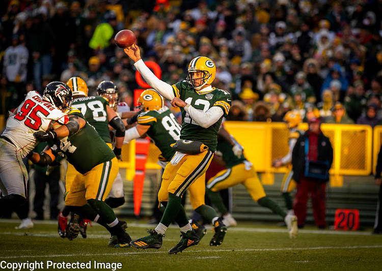 Green Bay Packers against the Atlanta Falcons during a regular season game at Lambeau Field in Green Bay on Sunday, December 9, 2018.