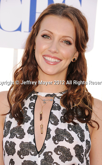 BEVERLY HILLS, CA - JULY 29: Katie Cassidy arrives at the CBS, Showtime and The CW 2012 TCA summer tour party at 9900 Wilshire Blvd on July 29, 2012 in Beverly Hills, California.