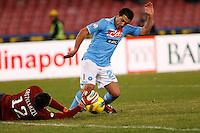 NAPOLI 25/01/2012 - COPPA ITALIA  2011/2012  QUARTI. INCONTRO NAPOLI - INTER. NELLA FOTO   WALTER GARGANO .FOTO CIRO DE LUCA
