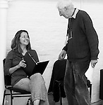 """King Lear"" rehearsed reading rehearsals. Old Vic Theatre. Director: Jonathan Miller. Greta Scacchi, Jonathan Miller."