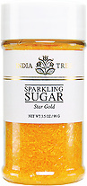 10214 Star Gold Sparkling Sugar, Small Jar 3.5 oz