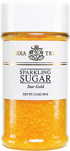 10214 Star Gold Sparkling Sugar, Small Jar 3.5 oz, India Tree Storefront