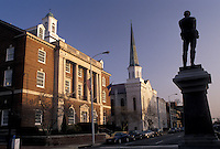 AJ3321, Alexandria, Virginia, Court House and Confederate Monument in downtown Alexandria in the state of Virginia.