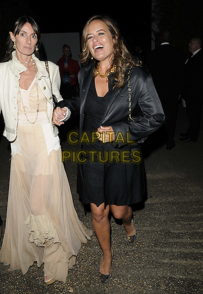 guest &amp; Jade Jagger<br /> The Serpentine Gallery Summer Party, Serpentine Gallery, Kensington Gardens, Hyde Park, London, England.<br /> June 26th, 2013<br /> full length dress black blazer smiling mouth open<br /> CAP/CAN<br /> &copy;Can Nguyen/Capital Pictures