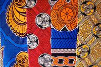 Traditional Fabrics for Sale In Dambwa Central Market, Livingstone,  Zambia
