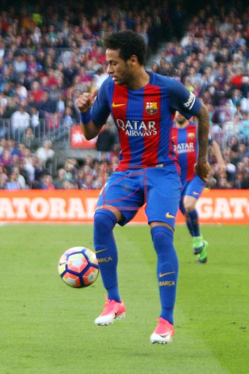 League Santander 2016/2017. Game: 36.<br /> FC Barcelona vs Villarreal CF: 4-1.<br /> Neymar Jr.