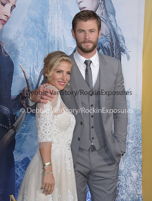 Chris Hemsworth and Elsa Pataky at The Universal Pictures' American Premiere of The Huntsman: Winter's War held at he Regency Village Theatre in Westwood, California on April 11,2016                                                                   Copyright 2016Hollywood Press Agency