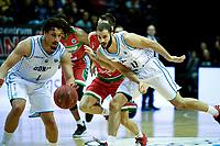 GRONINGEN - Basketbal,  Donar - Karsiyaka SK, Martiniplaza, Europe Cup, seizoen 2018-2019, 14-11-2018,  Donar speler Sean Cunningham en Donar speler Shane Hammink