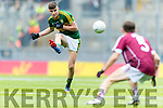 Sean O'Shea Kerry in action against Adam Quirke Galway in the All Ireland Minor Football Final in Croke Park on Sunday.