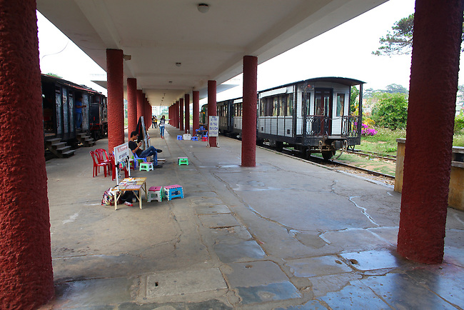 Train station. Dalat, Vietnam. April 20, 2016.