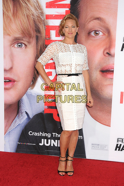 Zoe Bell<br /> &quot;The Internship&quot; Los Angeles Premiere held at the Regency Village Theatre, Westwood, California, USA.<br /> May 29th, 2013<br /> full length white lace dress black belt hand on hip see through thru <br /> CAP/ADM/BP<br /> &copy;Byron Purvis/AdMedia/Capital Pictures