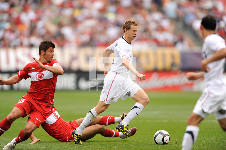 Jonathan Spector (2) of the United States during an international friendly between the men's national teams of the United States (USA) and Turkey (TUR) at Lincoln Financial Field in Philadelphia, PA, on May 29, 2010.