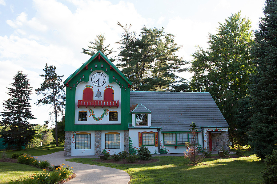 Santa House, a Christmas holiday tourist attraction in Midland, Michigan, USA