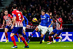 Mikel San Jose Dominguez of Athletic de Bilbao (C) in action during the La Liga 2018-19 match between Atletico de Madrid and Athletic de Bilbao at Wanda Metropolitano, on November 10 2018 in Madrid, Spain. Photo by Diego Gouto / Power Sport Images