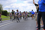 Riding through the feed zone during the Irish National Men's Elite Road Race Championships held over an undulating course featuring 9 laps centered in the village of Multyfarnham, Co.Westmeath, Ireland. 29th June 2014.<br /> Picture: Eoin Clarke www.newsfile.ie