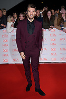 Joel Dommett<br /> arriving for the National Television Awards 2018 at the O2 Arena, Greenwich, London<br /> <br /> <br /> ©Ash Knotek  D3371  23/01/2018