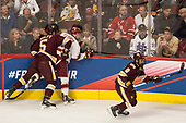 Nick Wolff (UMD - 5), Logan O'Connor (DU - 22), Kyle Osterberg (UMD - 8) - The University of Denver Pioneers defeated the University of Minnesota Duluth Bulldogs 3-2 to win the national championship on Saturday, April 8, 2017, at the United Center in Chicago, Illinois.