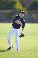 Cole Nisbit (52), from Fountain City, Wisconsin, while playing for the Padres during the Under Armour Baseball Factory Recruiting Classic at Gene Autry Park on December 27, 2017 in Mesa, Arizona. (Zachary Lucy/Four Seam Images)