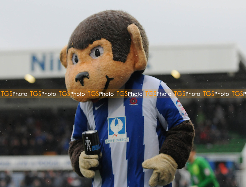 Hartlepool United mascot H Angus pre kick off after completing a 17 mile charity walk to The Vic - Hartlepool United vs Yeovil Town - NPower League One Football at Victoria Park, Hartlepool - 09/03/13 - MANDATORY CREDIT: Steven White/TGSPHOTO - Self billing applies where appropriate - 0845 094 6026 - contact@tgsphoto.co.uk - NO UNPAID USE.