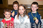 SOCCER AWARDS: Attending the Kingdom Boys Academy medal presentation at the the Grand Hotel on Sunday afternoon l-r: Rian O'Sullivan, Camp, Giles Appleby, Ballydunalea, Ciara O'Sullivan, Camp and Ferdia O'Brien, Riverside Drive..   Copyright Kerry's Eye 2008