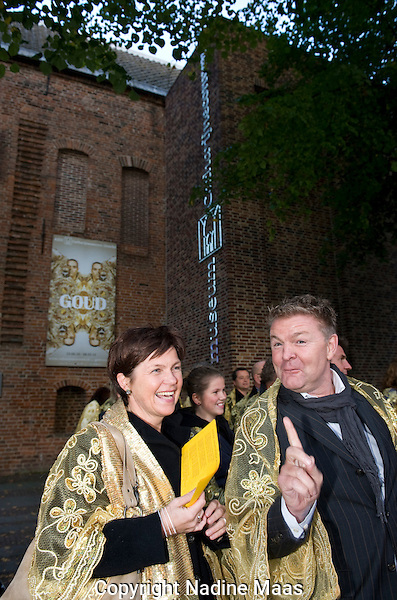 Utrecht, 29 september 2010.Nederlands Film Festival.Gouden Kalveren Defile.Willemien van Aalst, Rene Mioch.Foto: Nadine Maas